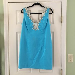 LILY PULITZER - Turquoise & Gold Janice Dress